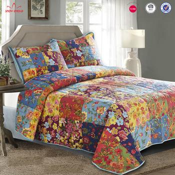 Elegante Sábana Textil Para El Hogar Multicolor Tamaño King