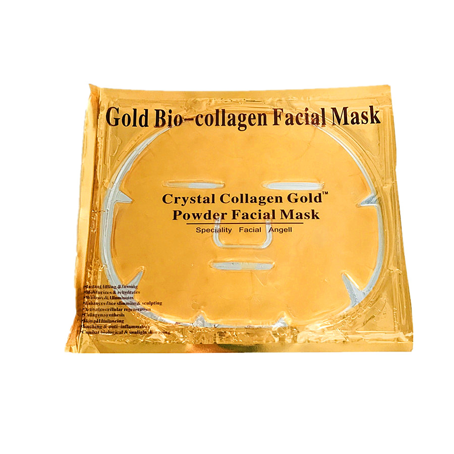 OEM custom face mask collagen Crystal beauty 24k gold whitening moisturizing private label facial mask, White