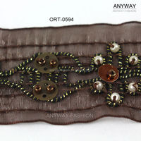 Handmade lace trim sequin and bead wholesale from china