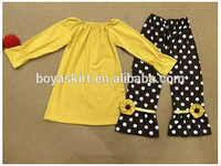 wholesale New design Children 's clothing sets childrens fall boutique clothes outfit ruffle