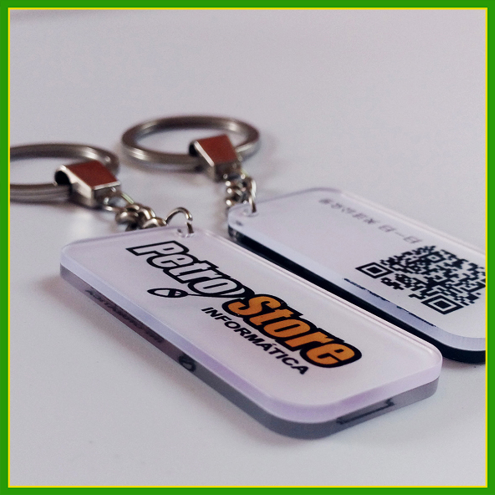 Custom Logo Pvc Car Key Chain Promotion Gift Blank Acrylic Make Keychains