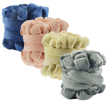 Super soft 100% Acrylic Roving Bulky  Yarn Thick Chunky Giant yarn With velvet for hand knitting Blanket