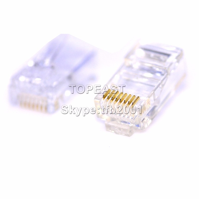 High Quality Cat5e CAT6 CAT7 RJ45 Connector For Stranded Solid network cable 8P8C Gold Plated RJ45 <strong>Plug</strong> with UTP connector RJ45
