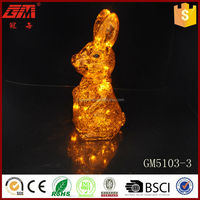 easter decorative fake glass rabbit