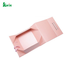 Folding Retail Luxury Pink Printing Design And Custom Logo Gift Paper Package Box For Clothing