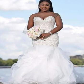 2019 Fat Woman Plus Size Mermaid Bridal Gown Wedding Dress In Guangzhou  China - Buy Fat Woman White Wedding Dress,Plus Size Wedding Dress,Mermaid  ...