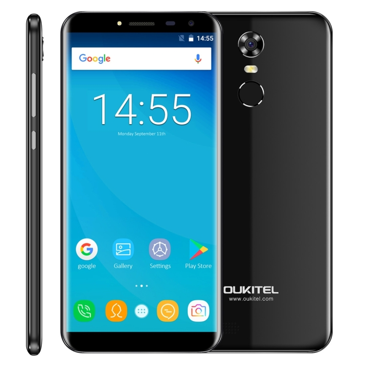 Best Selling OUKITEL C8 Smartphone 2GB+16GB Fingerprint Identification 5.5 inch Android 7.0 Mobile Phone Network 3G Cell Phone