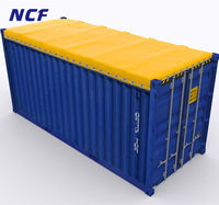20 Ft and 40 Ft Shipping Open Top Container Covers With Eyelets And TIR Cord
