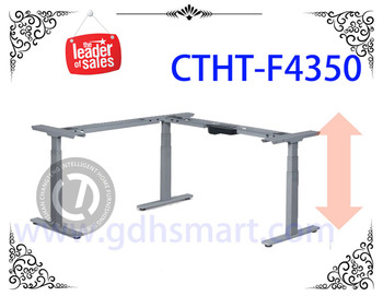 L Shaped Height Adjustable Desk Frame Study Table Steel Leg Height Adjustable  Table Frame Products In