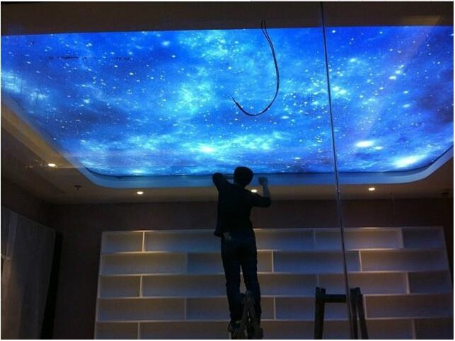 Großhandel Neue Uv Star Printed Skylight Pvc Stretch Deckenfolie Von