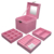 HB015 Wholesale custom high quality earring necklace organizer watch storage box travel jewelry box