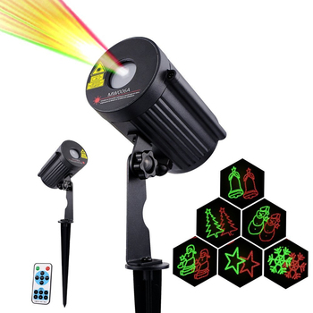 IP65 Outdoor Laser Lights Projector 8 Patterns led Christmas laser light MW006A