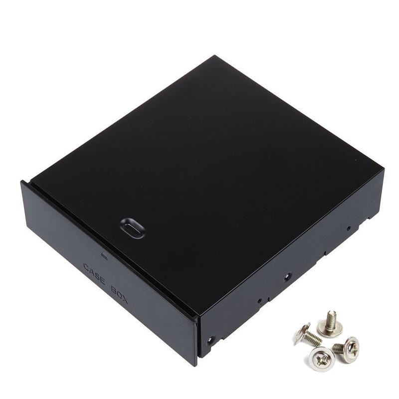 Desktop Computer 5 25 Bay Case Box Rack Blank Organizer Drawer for Storage Devices Memory Cards
