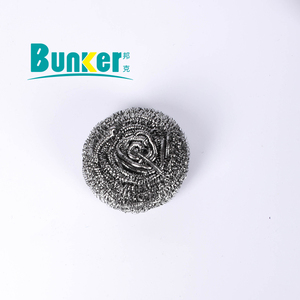 Flat shape ss 410 stainless steel scrubber cleaning ball scrubber metal scourer