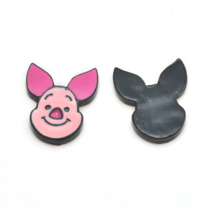 200 pieces pink color pig design enamel charms lovely carton jewelry pendants zinc alloy enamel accessories