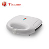 S101 Ningbo Tianzuo non stick silver stainless steel grill 2 slice panini sandwich maker
