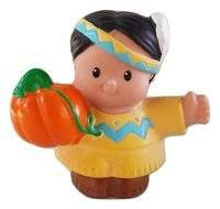 Fisher Price Little People Thanksgiving Play Set REPLACEMENT Native American Holding Pumpkin OOP