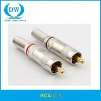 Gold RCA Plug / rca Connector / rca JACK
