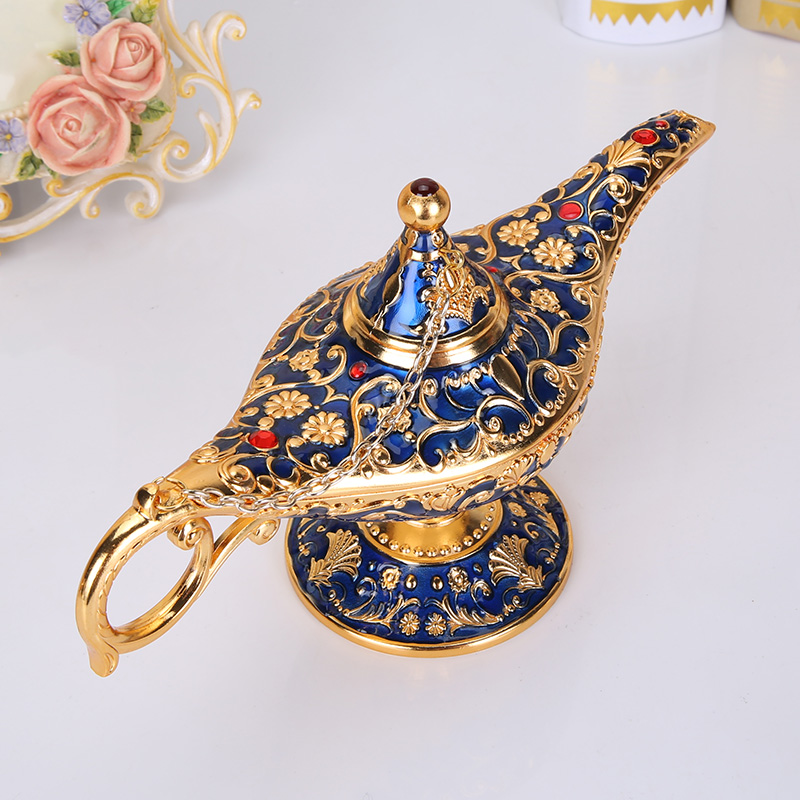 Aladdin's magic lamp Arts and crafts Tourist Souvenirs Tridimensional 3D Metal Fabulous Genie Magic Aladdin Lamp
