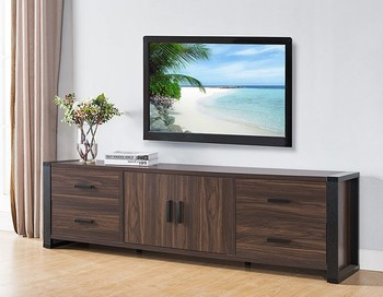 Corner Simple Tv Stand Wood Cabinet