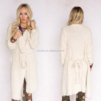 41c0c6df4f97 Mujer abrigo de invierno chaqueta fuzzy hilo suave oversized Duster  cardigan mujeres maduras nuevo pantalón diseño