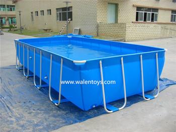 Pl stico retangular piscina metal frame piscina grande for Piscina plastico rectangular