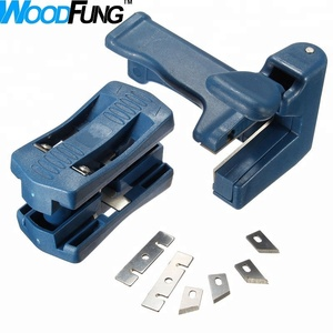 Edge Banding Machine Plastic PVC Wood Trimmer 2 Edges Manual Head and Tail  Trimming Woodworking Tool