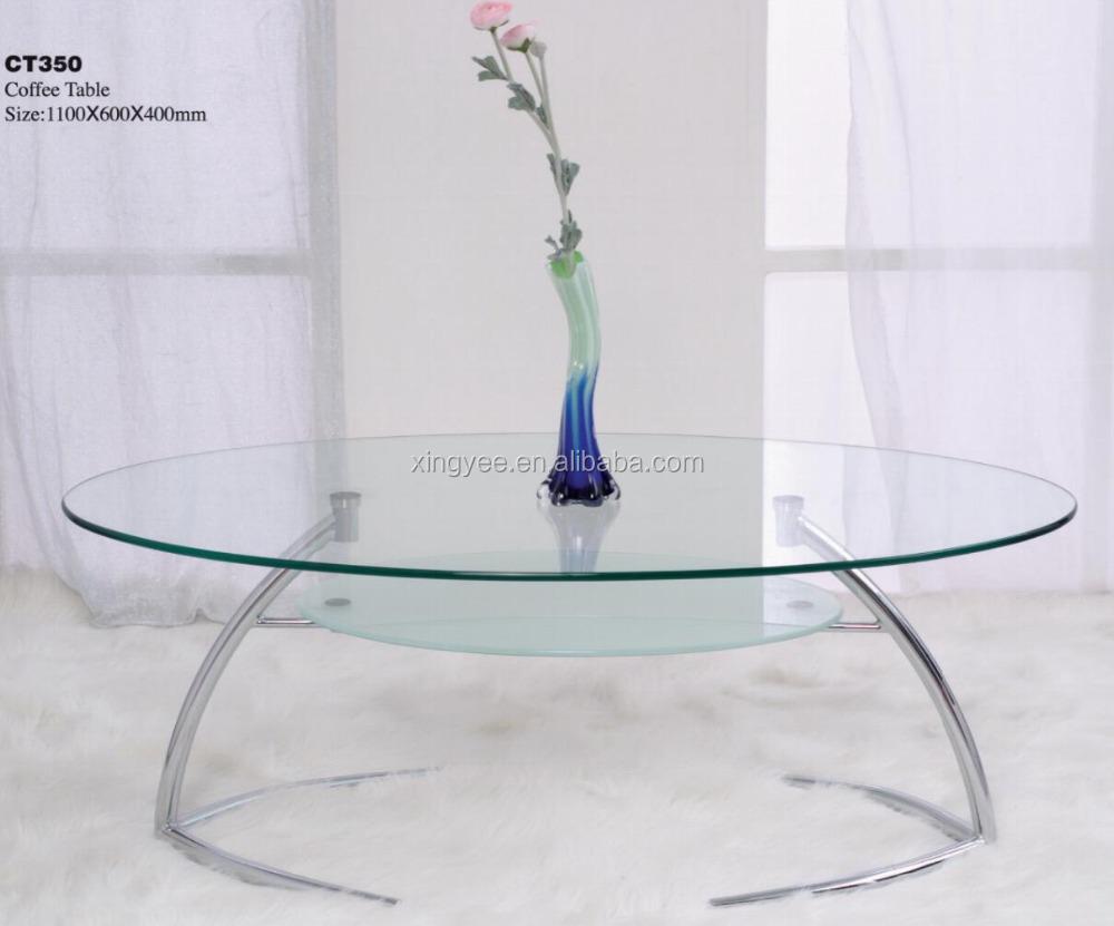Modern Living Room Home Centre Furniture Tempered Glass Sofa