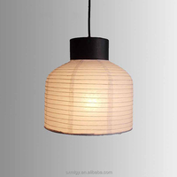 Bowl Shape Hanging Paper Lampshade For Ceiling Lighting