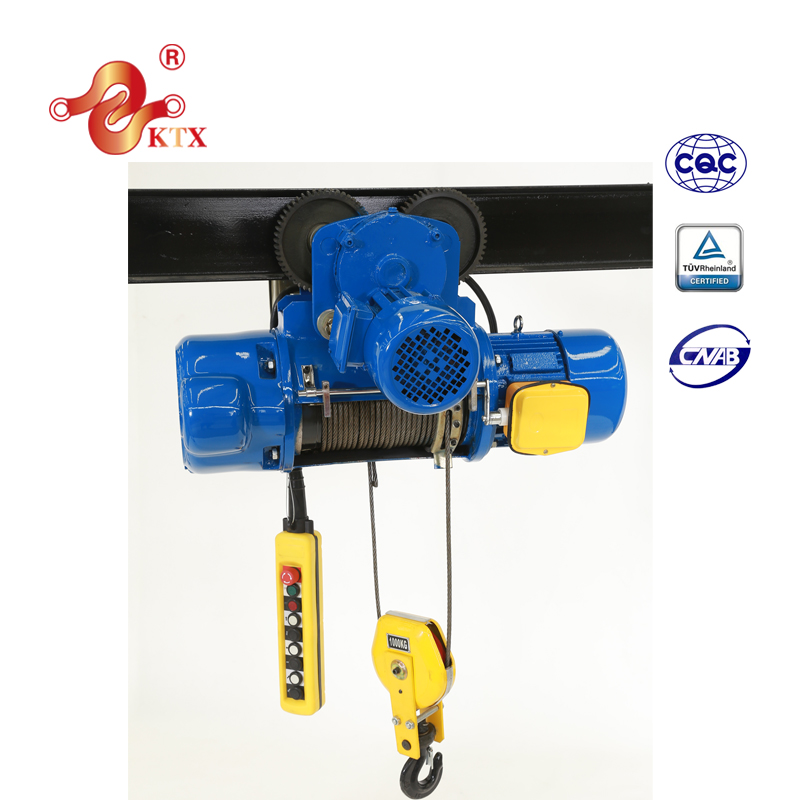 manufacture CD1 electric Wire Rope Hoist/electric hoist/lifting crane 1ton