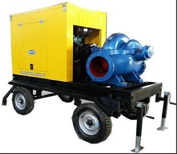 Mobile Diesel Water Pump With Trailer From 3 inch To 32 inch