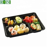 Take away ready plastic disposable meal tray for fast food