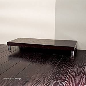 """Lacava Free-standing bench with polished stainless steel legs, 39 3/8""""W, 17 3/4""""D, 5 1/2""""H White Plaza"""