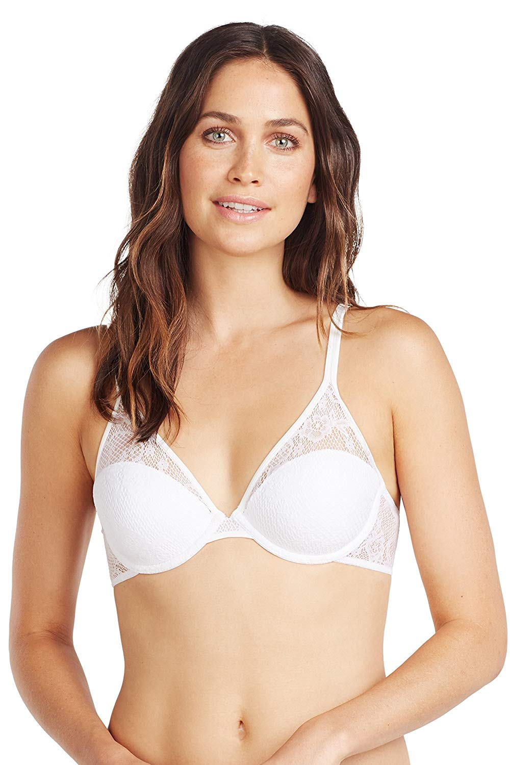 a2ced5fa2b Get Quotations · OnGossamer Women s Racy Lace Demi Bra