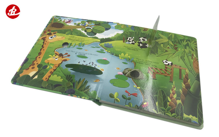 Professional Custom Printing High Quality New Design  Children Lift and Flip Flap / Pull Push / Puzzle Board Book