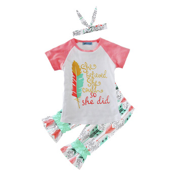 Ins new children summer clothes sets european kids summer outfits casual  cotton pajamas 1-5years 8d9c5fd6a