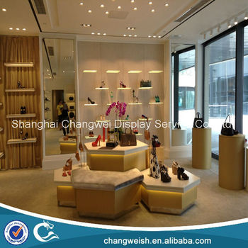 Fashion Women Shoes Display Table And Display Cabinet With ...
