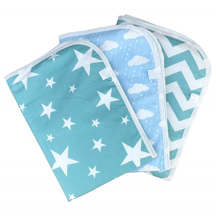 Hot selling Waterproof Flannel Stripe style detachable Wholesale fashion striped design portable baby diaper changing pad