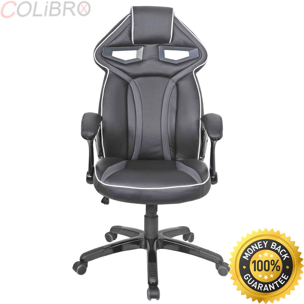 COLIBROX--Racing Bucket Seat Office Chair High Back Gaming Chair Desk Task Ergonomic New. high back race car style bucket seat office desk chair gaming chair. racing seat office chair. pc chair.