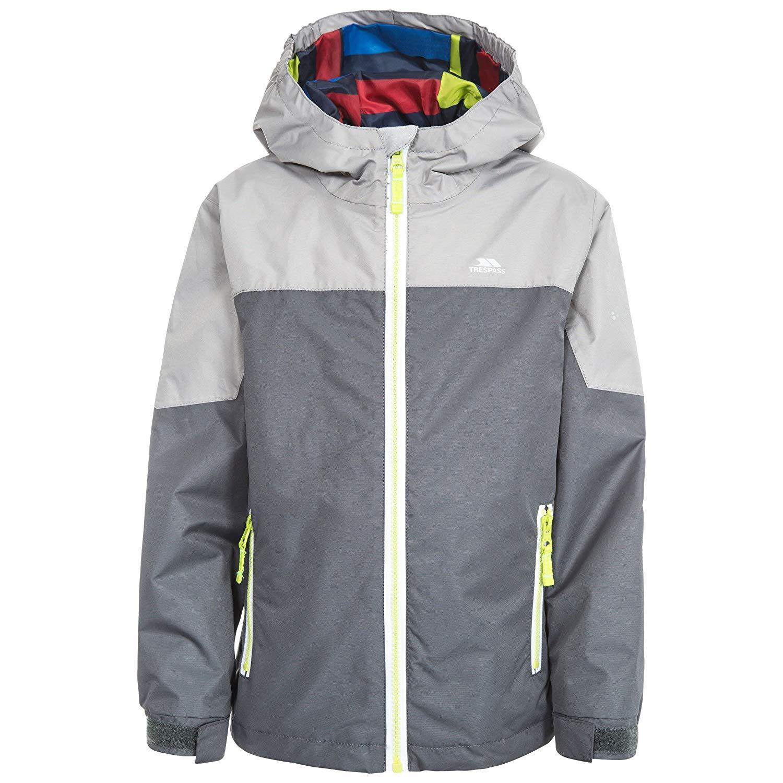 030836a41 Get Quotations · Trespass Big Boys' Tiebreaker Waterproof Rain Jacket With  Removable Hood