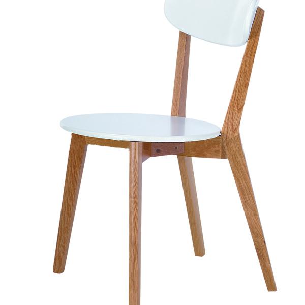 Scandinavian indoor restaurant White modern rest wooden chair