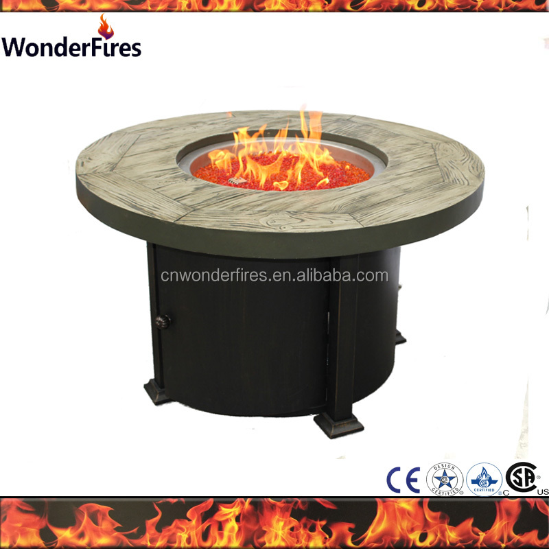 Hot sale Outdoor Magnesia Round Fire Pit Table Propane fireplace