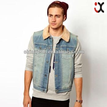 Fashion New Men Denim Jacket With Fur Collar Jxj25024 Buy Denim