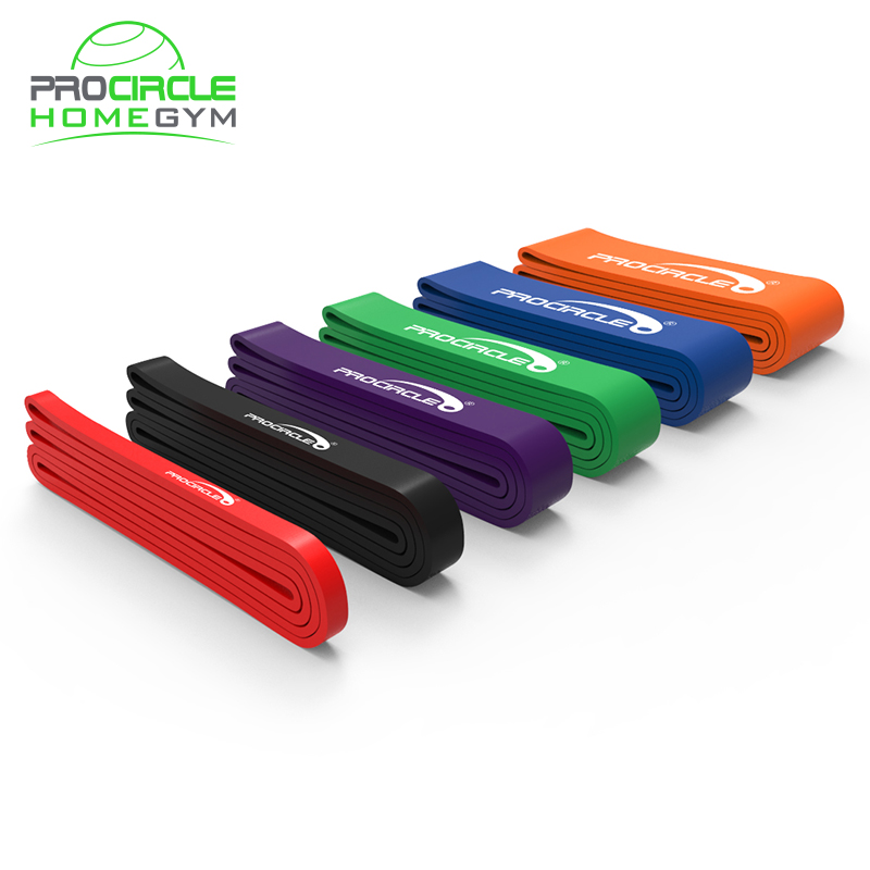 Fitness Running Latex Resistance Band Pull Up Assist Band, Basic six color or customized