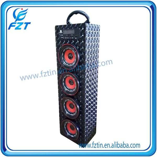 RMS 3WX4 wooden tower UK-22 portable bluetooth cara membuat speaker aktif mini high quality from Fztin