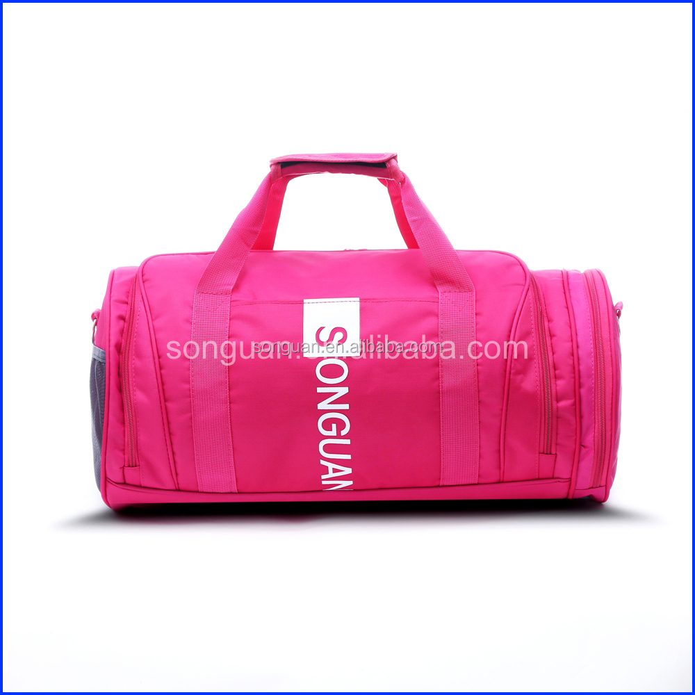 Factory price fashional waterproof duffel travel gym sport bag for women