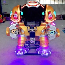 Chargeable amusement park kids game machine battle king walking robot ride for sale