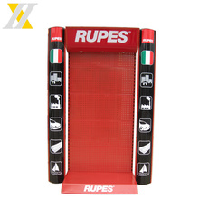 Newest Design Rotating Sides Three Layers Red Metal Product Battery Display Rack
