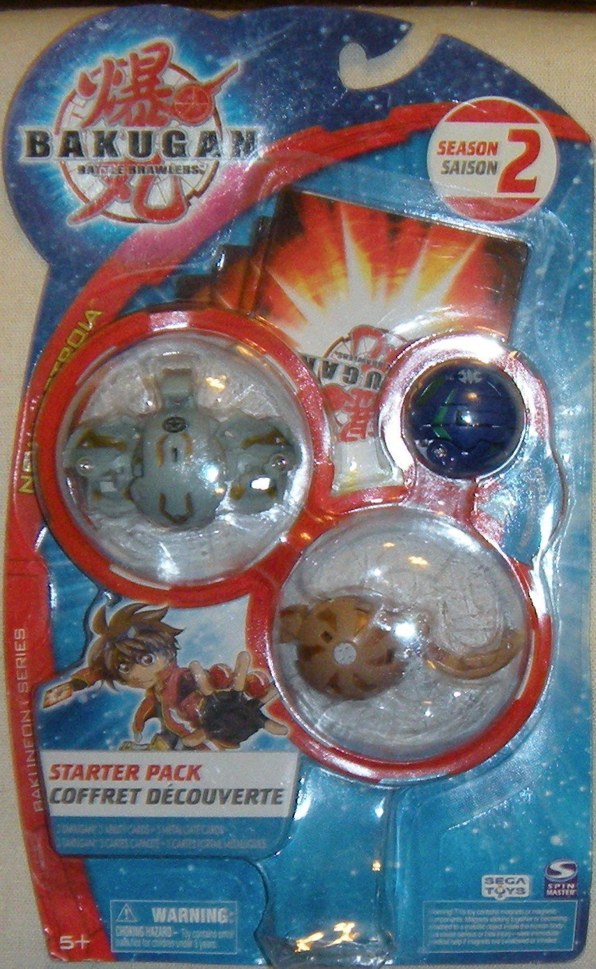 "Bakugan Battle Brawlers Season 2 Bakuneon Series, New Vestroia Starter Pack - "" NOT Randomly Picked"", Shown As In The Picture!"