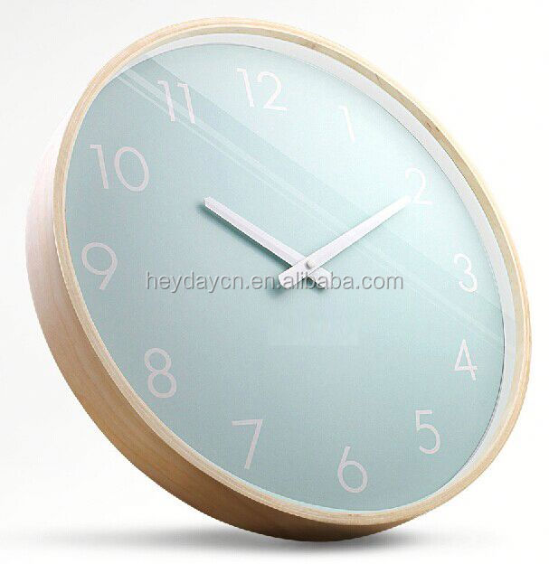 plating silver wall clock